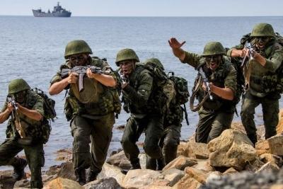 Российская Федерация перебросила вКрым морскую пехоту сКаспия