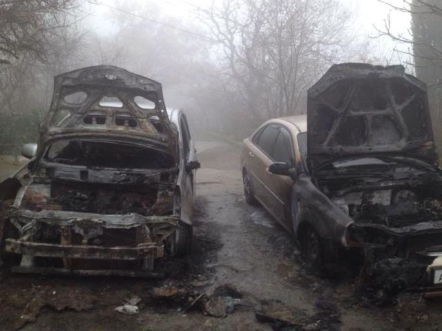 На ЮБК опять горят автомобили